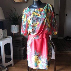 Bisou bisou floral dress!